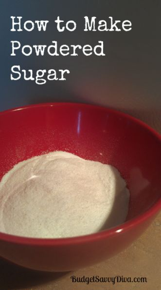 Make your own powdered sugar