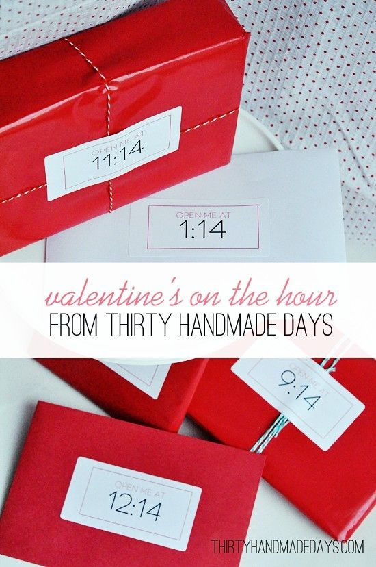 Valentine's on the hour. A cute Valentine's Day gift idea.
