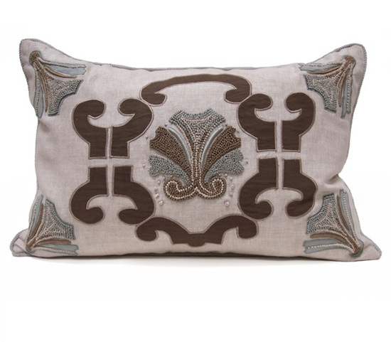InStyle-Decor.com Beverly Hills Luxe Designer Embroidery Pillow Inspiring Interior Design Fans With Luxury Home Decor Ideas From Hollywood Enjoy & Happy Pinning
