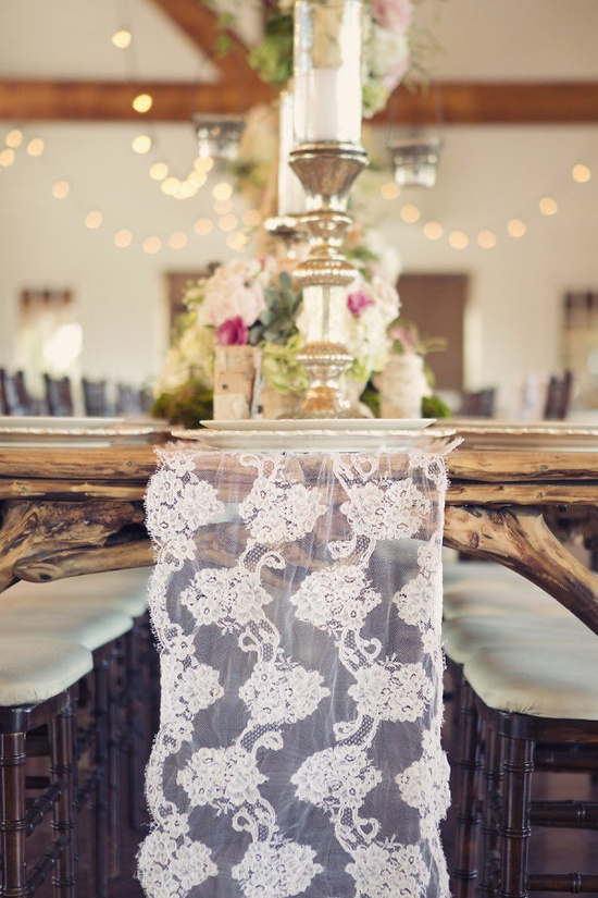 the prettiest lace runner  Photography by sarahkatephoto.com, Event Design by hollytrippeventde..., Floral Design by bellafloraofdalla...
