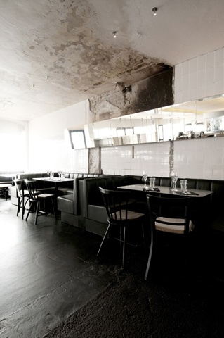 cherry blossom blog, restaurant design Cultural images showed on the walls with photography