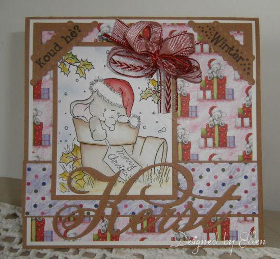 "Handmade Card ""Bella in pot"""