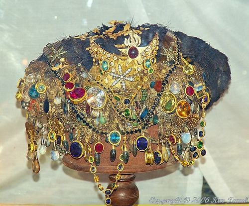 Dripping with jewels!!  Crown Jewels Ternate Indonesia ~ Sultans crown jewels at the palace