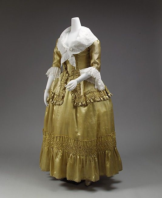 Dress 1778, French, Made of silk