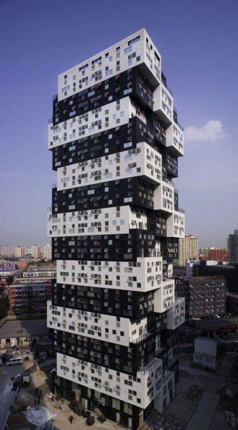 Building Unique Black and White Building Construction -  #architecture ?k?
