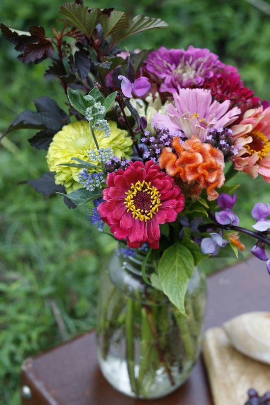 Cheery bouquet of annuals.