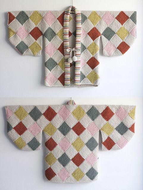 #haori #kimono #harlequinpattern #crochet