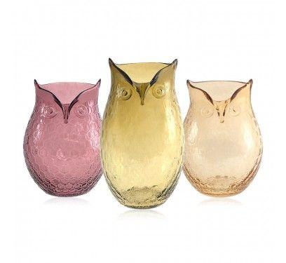 Owl vases.