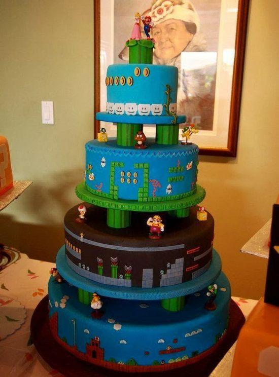 Super Mario Wedding Cake