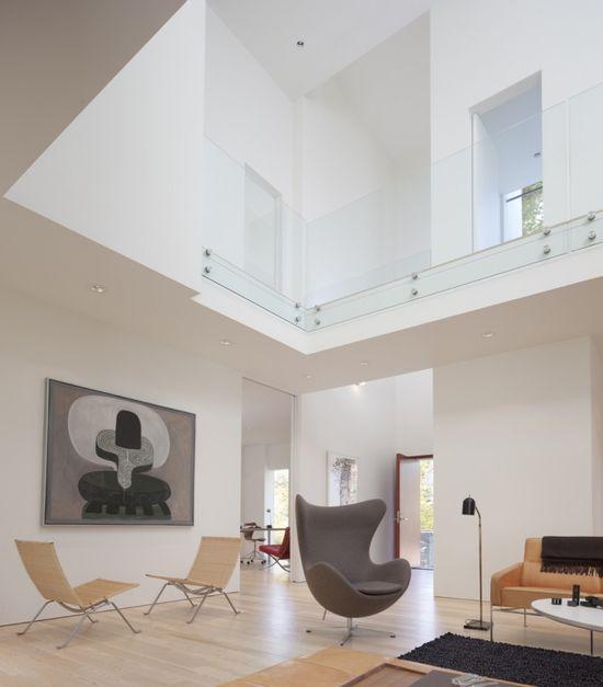 Danish modern furniture in modern architecture