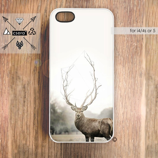 Deer iPhone 5 Case  Geometric iPhone 5 Cover  Deer by casesbycsera, $19.99