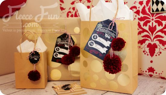 Printable Handmade gift tags from Fleece Fun