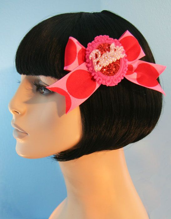 Polkadot Barbie Hair Bow Clip Accessory by Cutie by CutieDynamite, $21.00