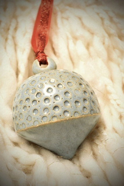 Blue Christmas 2 Ceramic Ornament. $30.00, via Etsy.