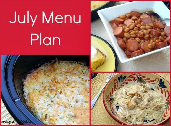 Mommy's Kitchen: July Menu Plan
