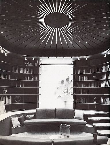 Paul Rudolph, Edersheim Apartment. 1970 conversation pit and library (great idea for the library)