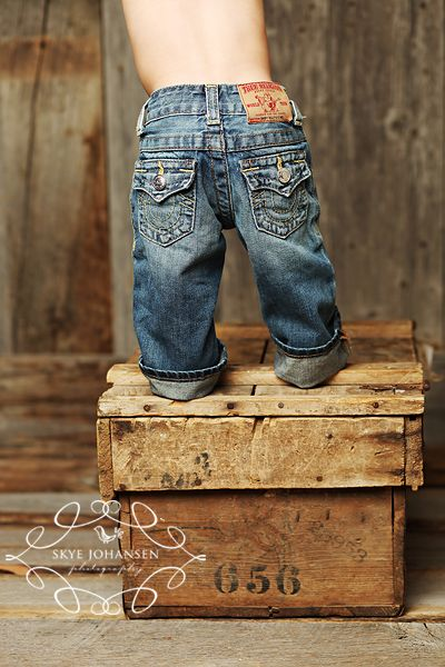 Baby in jeans