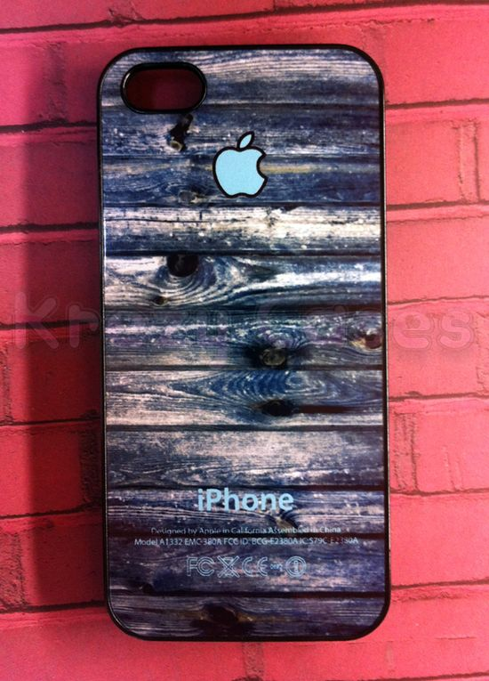 Iphone 5 Case, New IPhone 5 Case Wood Texture With Apple Logo Iphone 5 Cover, IPhone 5 Cases, Case F on Luulla