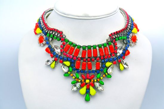 Neon Necklace -to order at Doloris Petunia