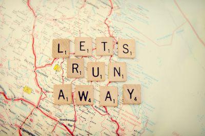 Let's Run Away art print. #travel #quotes