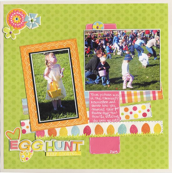Egg Hunt! - Scrapbook.com - #scrapbooking #layouts