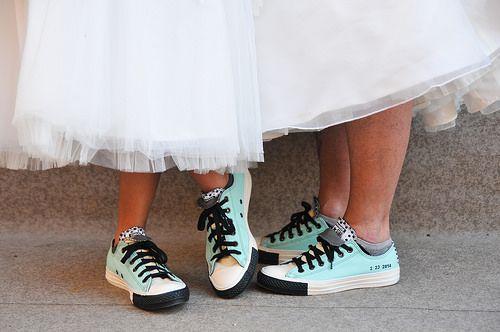 Two brides rocking t