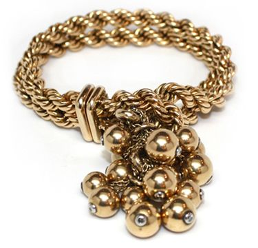 A Gold and Diamond Tassel Bracelet,  by Marchak, circa 1950