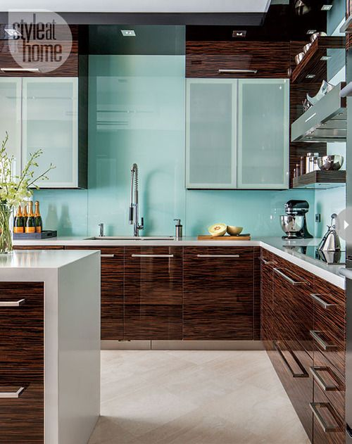 Beautiful kitchen. Love the cabinets and paint color.