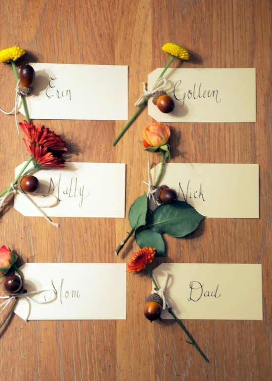 simple & lovely place cards