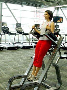 Todays Exercise: Leg Raises on Captains Chair