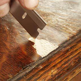 repairing veneer - dining room table this means you!