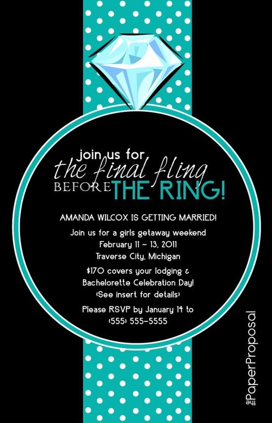 Final Fling Bachelorette Party Invite