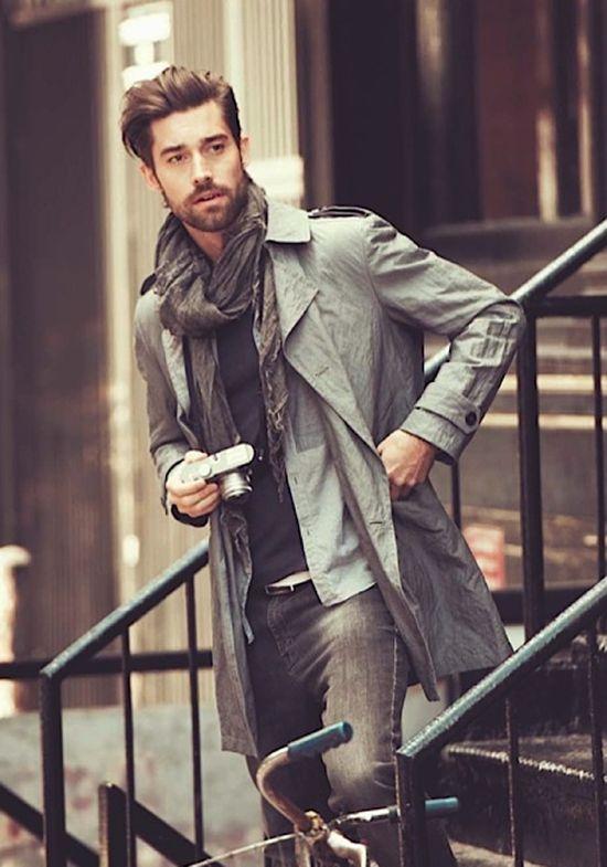 mens fashion, jacket, scarf, shirt