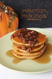 Pumpkin Pancakes on MyRecipeMagic.com are delicious with greek yogurt in the recipe! #pancakes #pumpkin