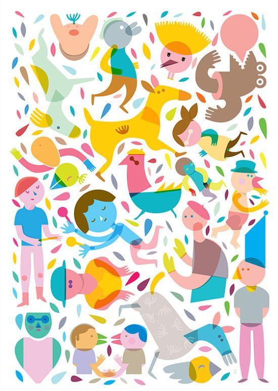 The Party Collection Four prints by @Judith Zissman Zissman Zissman de Munck Kaufmann on Etsy,