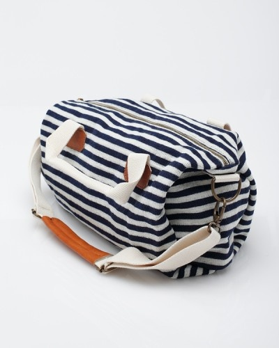 Small Stripe Duffle Bag by Brandy Melville