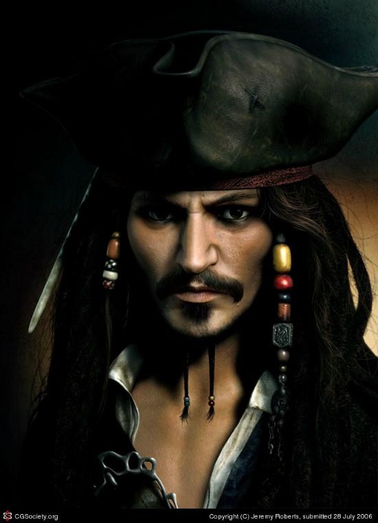 Captain Jack Sparrow 3D character