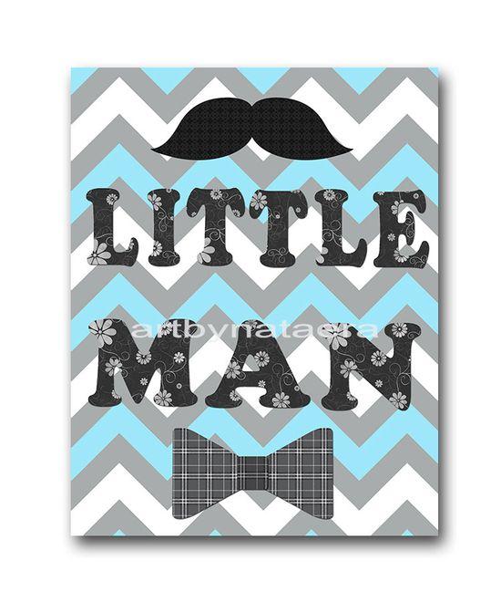 Little man Baby Boy Nursery art print Children by artbynataera, $14.00