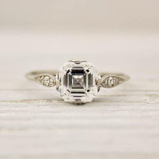 Beautiful!!! Vintage Tiffany & Co. Asscher Cut 1925