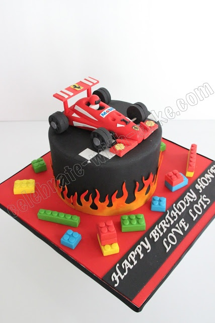 Celebrate with Cake!: F1 Race Car Cake