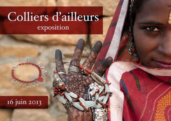 expo COLLIERS d'AILLEURS  Paris - recto