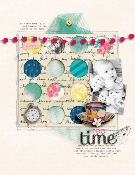 Ideas for Peek-a-Boo Elements on Layered Scrapbook Layouts