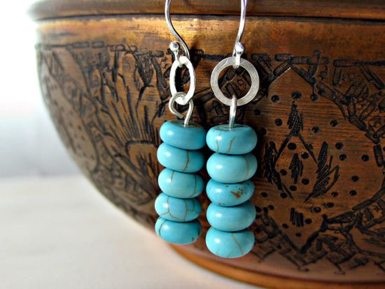 Turquoise Earrings #handmade #jewelry #turquoise #earrings