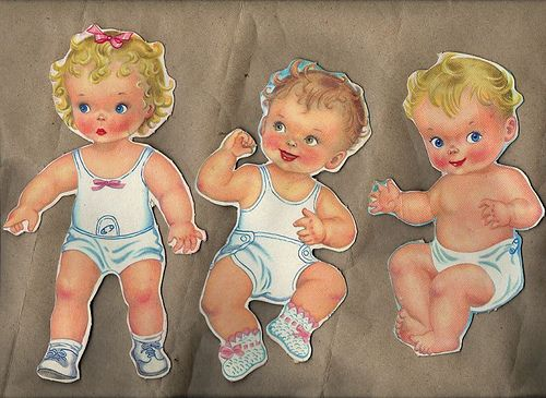 Paper doll babies