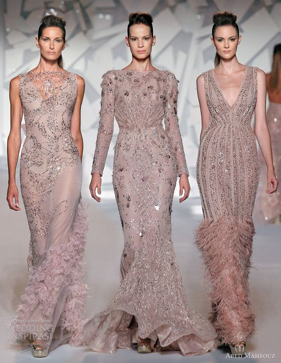 abed mahfouz fall winter 2012 2013 couture pink dresses