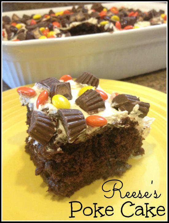 Reese's Poke Cake