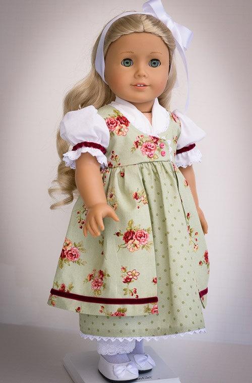 Day Dress for Caroline - American Girl. $55.00, via Etsy.