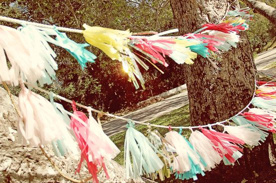 Tissue Tassel Garland Tutorial