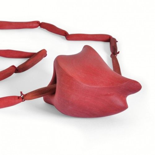 """Lena Olson - """"Heart""""  Neckpiece  Pink ebony  2012"""
