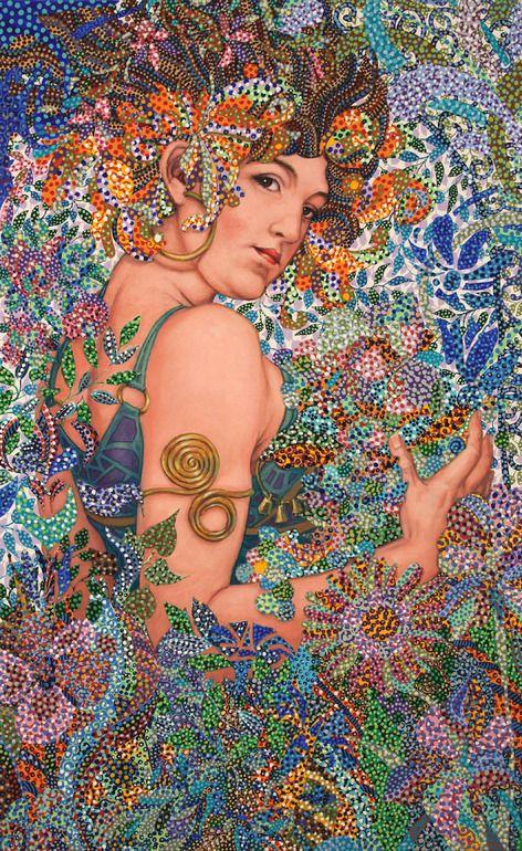 "Saatchi Online Artist: Erika Pochybova-Johnson; Acrylic, Painting ""Harmony"""